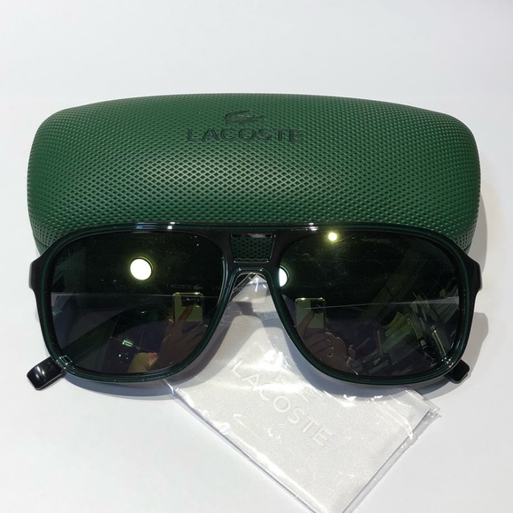 cf0ba3c4601 NWT Lacoste Men s Rectangle Black Sunglasses